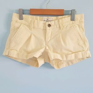 Abercrombie & Fitch vintage pleated twill shorts
